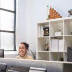 happy female employee