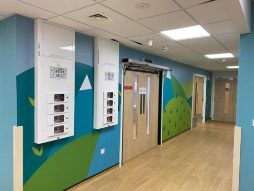 Hospital wall graphics and signage
