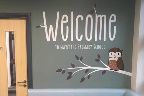 mayfield primary school wall graphics case study