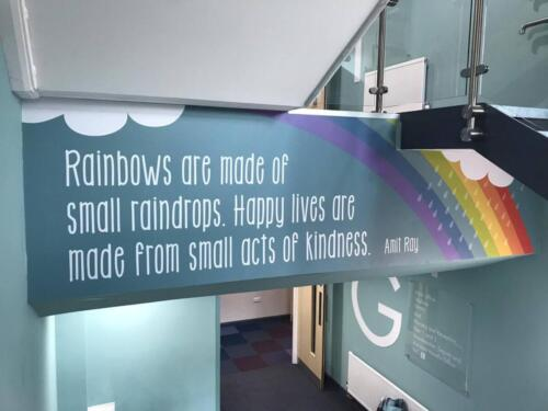 rainbow quote wall stickers