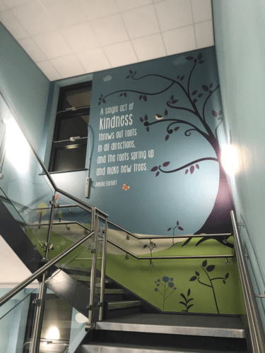 wall signage quote mayfield primary school